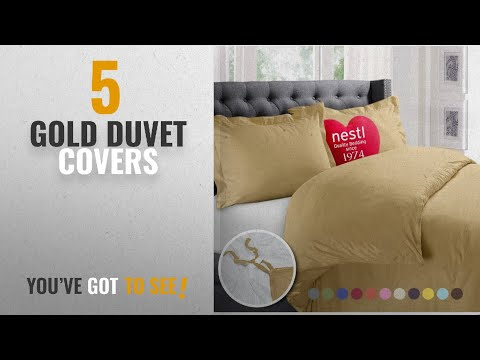 Top 10 Gold Duvet Covers [2018]: Nestl Bedding Duvet Cover, Protects and Covers your Comforter /