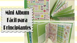 TUTORIAL Mini Album fácil para principiantes - Scrapbook DIY | Luisa PaperCrafts