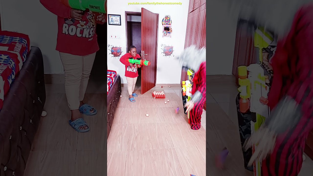 Funny prank try not to laugh werewolf GHOST PRANK TikTok NERF SNIPER  FORTNITE first person shooter