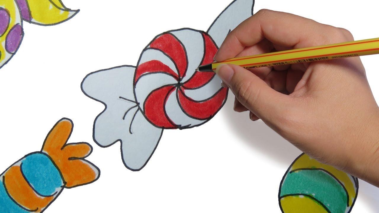 Como dibujar caramelos facil paso a paso para ni os a for Dormitorio para dibujar facil
