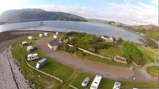 Aerial Video of Ardmair Point Holiday Centre, Ullapool, Scotland