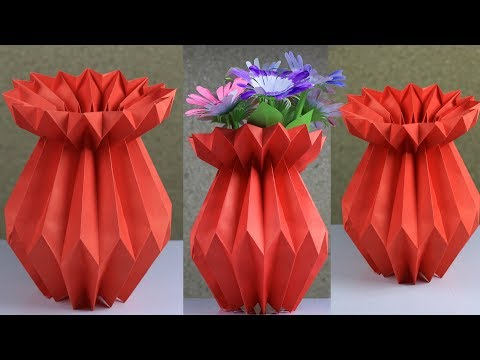 How To Make A Paper Flower Vase: Very Easy And Simple Method