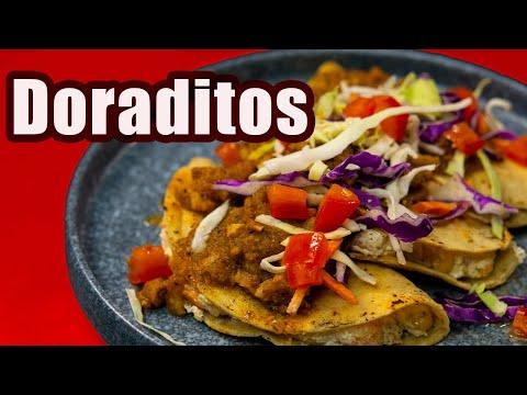 TACOS DORADOS + Salsa de CHICHARRÓN | TOQUE Y SAZÓN