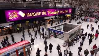Charlie and the Chocolate Factory - Waterloo Station Takeover