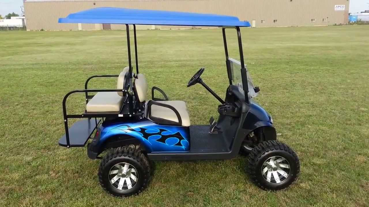 Custom Painted Lifted Rxv Golf Cart With Custom Matching