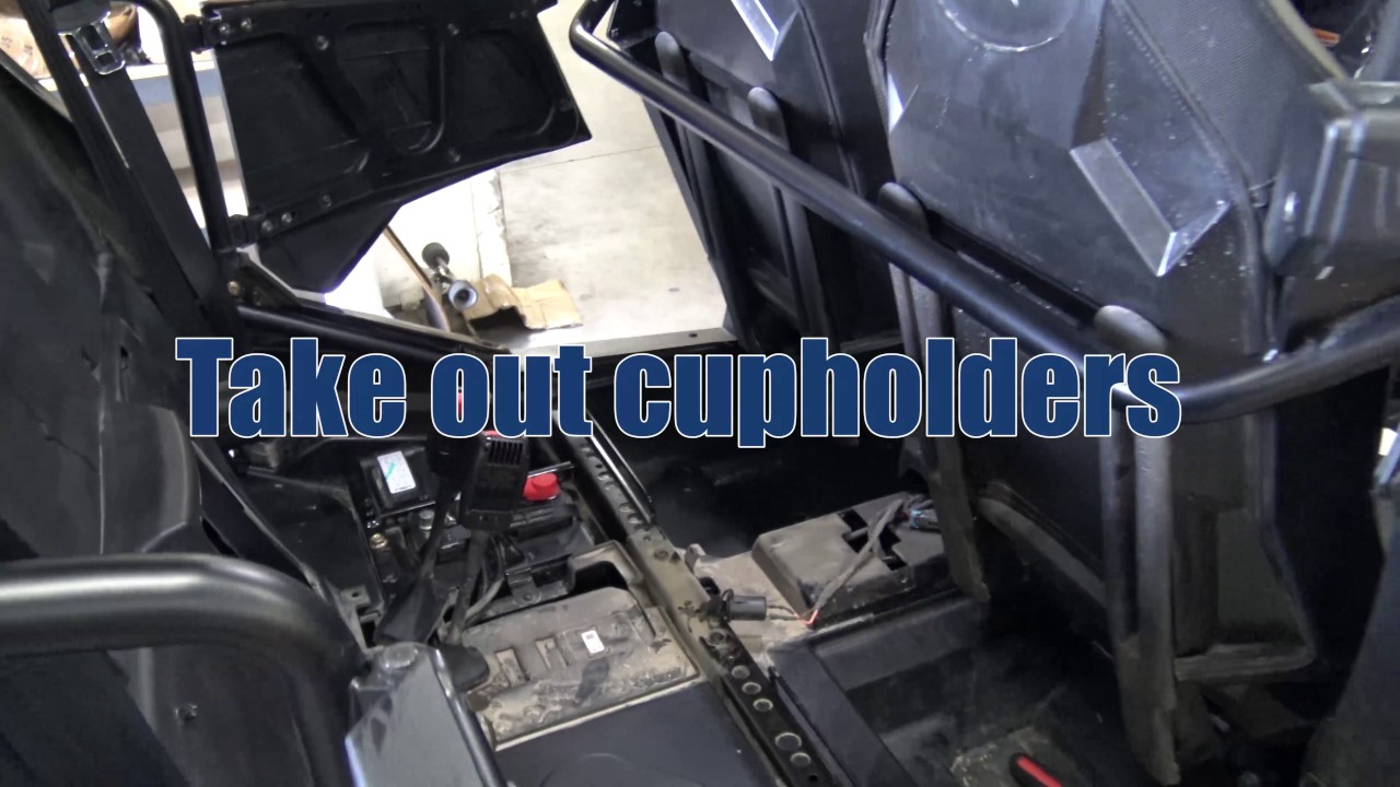 Rzr 4 1000 Rear Bench Seat Install Tutorial Youtube