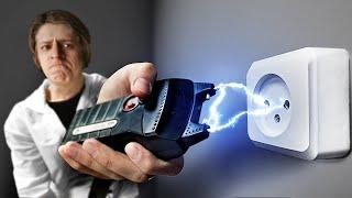 Что, если в розетку ударить электрошокером?