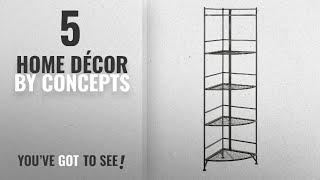 Top 10 Home Décor By Concepts [ Winter 2018 ]: Convenience Concepts 5 Tier Folding Metal Corner
