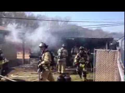 Raw video: Garage fire on Rupert Boulevard