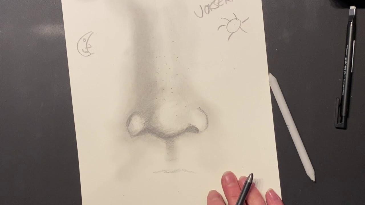Hvordan starte å tegne nese