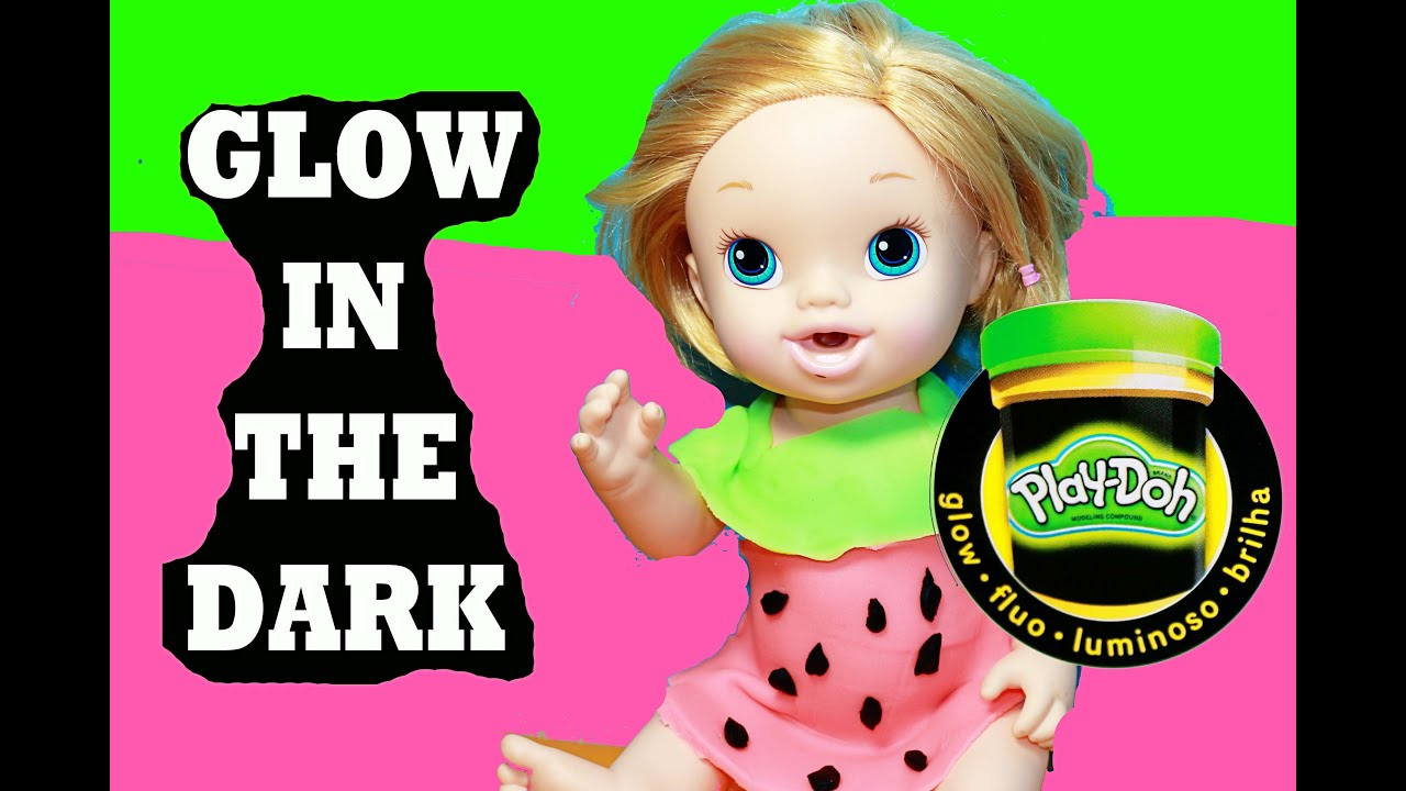 BABY ALIVE Doll PLAY-DOH Halloween Costume Glow In the Dark ...