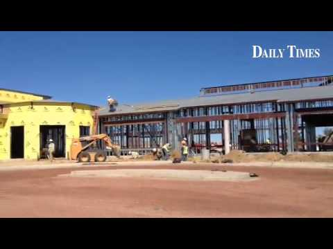 Construction activity of the new Naschitti Elementary School