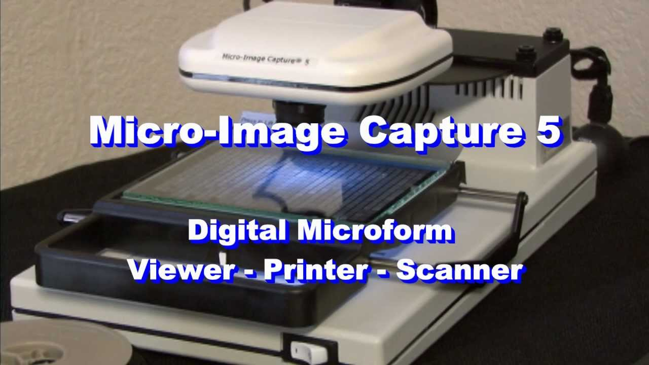 Micro Image Capture Microfilm & Microfiche Digital Viewer / Scanner