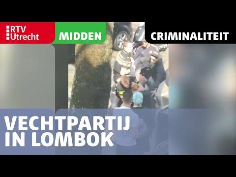 Vechtpartij in Lombok tussen agenten en omstanders [RTV Utrecht]