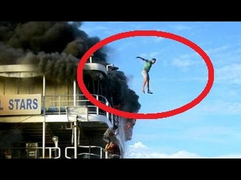 Passengers jump off as ferry in the Philippines burns - Burning Ferry Video Shows Passengers Fleeing