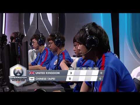 United Kingdom vs Chinese Taipei   Los Angeles Group Stage   Overwatch World Cup