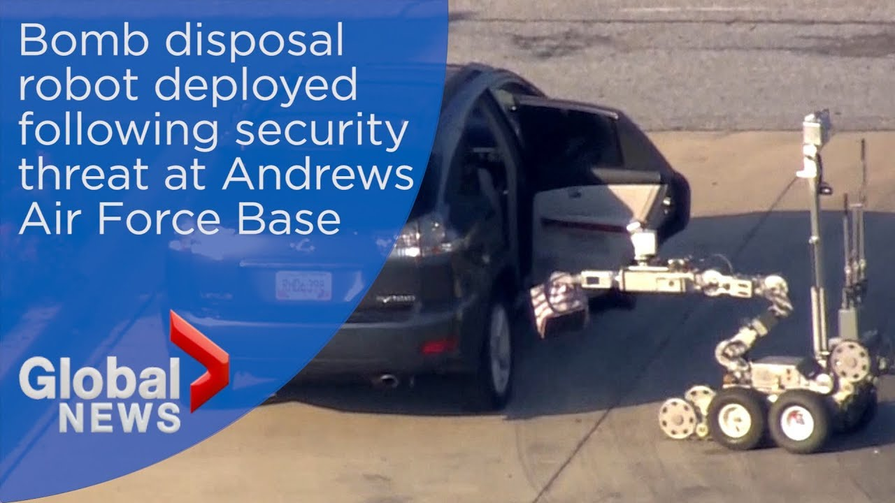 Bomb disposal robot deployed following security threat at Andrews Air Force Base
