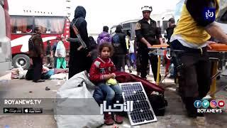 إجلاء مقاتلين مما يسمى بجيش الإسلام من دوما في الغوطة الشرقية