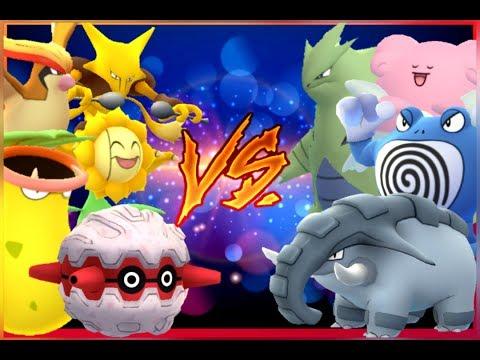 Pokémon GO Gym Battles Level 6 Gym Pidgeot Poliwrath Sunflora Tyranitar Donphan Fortress & more