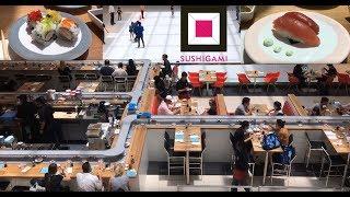 Conveyor Belt Sushi in Houston Galleria, Sushigami