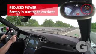 Tesla P90DL Autobahn Top Speed - Racing a Porsche 911 - Battery Overheat - Groschi Automotive EXTRA