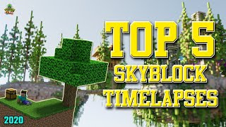 ✔ Minecraft: Top 5 SkyBlock Timelapses! (2019)