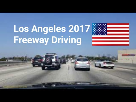 Dash Cam Tours🚘 - Los Angeles, California, USA, 10 freeway driving