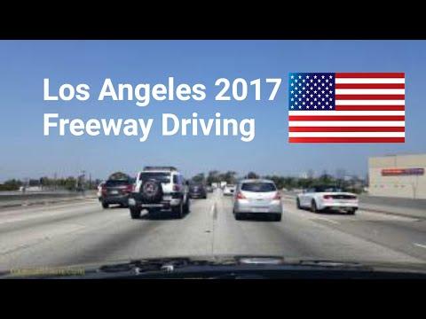 Los Angeles, California, USA, 10 freeway driving