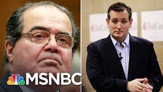 Ted Cruz On Supreme Court Justice Antonin Scalia's Funeral | MSNBC