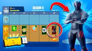 SEASON 4 LEVEL 100 BATTLE PASS UNLOCKED! ALL NEW SKINS & GAMEPLAY! (Fortnite Season 4 Battle Pass)