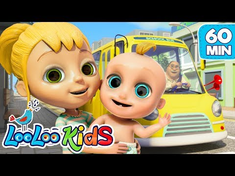 The Wheels on the Bus - Super Educational Songs for Children | LooLoo Kids