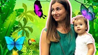 Ариша на выставке бабочек | Красивые бабочки для детей | Beautiful butterflies for kids
