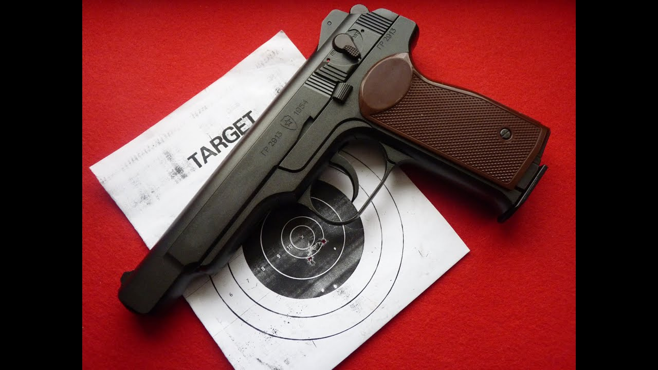 Пневматический пистолет Gletcher APS-P (Стечкина) - YouTube