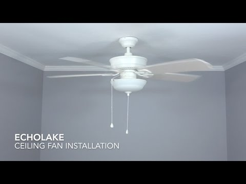How to Install the Harbor Breeze 52 in. Echolake Ceiling Fan
