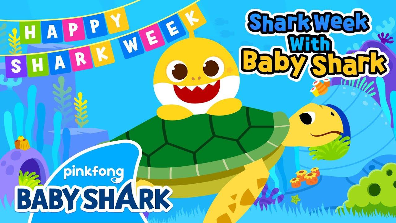 Baby Shark and Sea Turtles | Shark Week with Baby Shark | Baby Shark Official