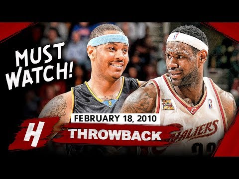 The Game That LeBron James Faced PRIME Carmelo Anthony! EPIC Duel Highlights 2010.02.18 - MUST SEE