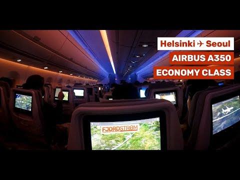 Finnair Airbus A350-XWB ECONOMY CLASS + Helsinki Vantaa Airport ✈ Incheon Airport Seoul