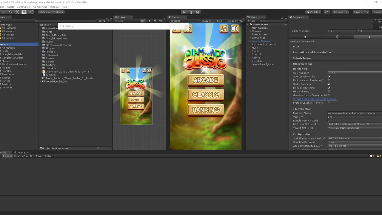 Tutorial Build Android for Unity 2018 1 0f2 64bit