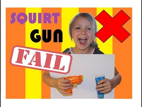 Squirt gun abstract painting FAIL! Mac 5! DIY. Family friendly video for kids!