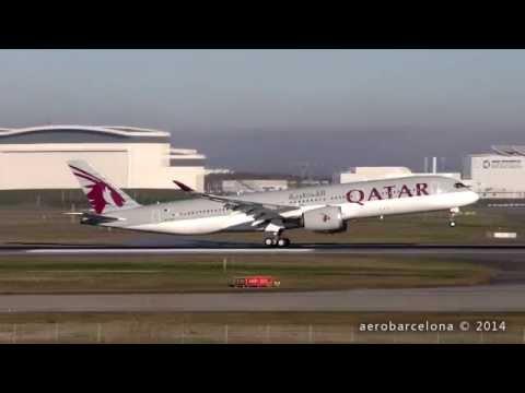 [FULL HD] Qatar Airways A350XWB -Delivery flight- landing Toulouse-Blagnac