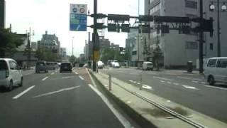 秋田中央道 山王十字路側入口から