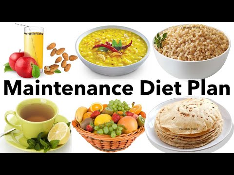Maintenance Diet Plan - India | Indian Diet/Meal Plan For Weight Loss To Lose 10Kg In 15 Days