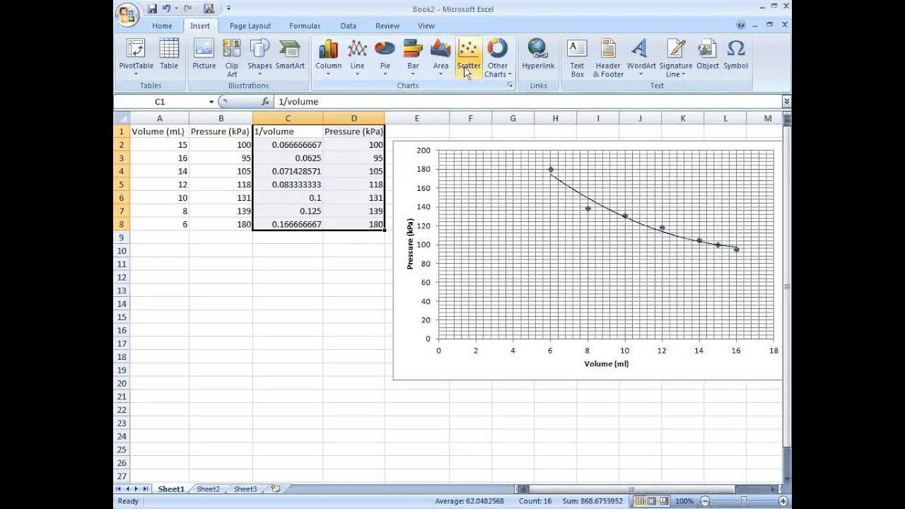 using excel for graphing lab data youtube. Black Bedroom Furniture Sets. Home Design Ideas