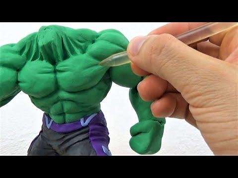 Tutorial Escultura de HULK Avengers End Game Plastilina | Making HULK in Clay | Avengers Sculpture thumbnail