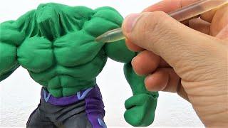 Tutorial Escultura de HULK Avengers End Game Plastilina |  Sculpting HULK in Clay | Vengadores