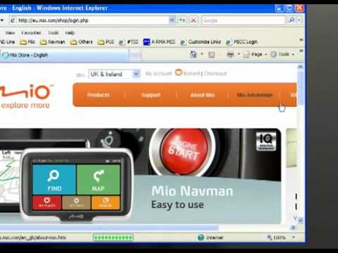 How to install your Free maps from Mio or Navman