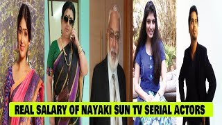real salary of nayaki sun tv serial actors