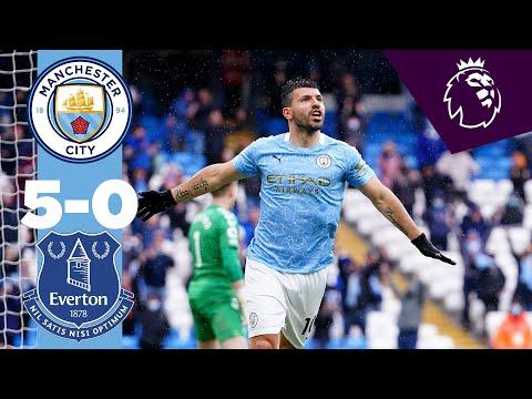 AGUERO FAIRYTALE AT THE ETIHAD   Man City 5-0 Everton Highlights