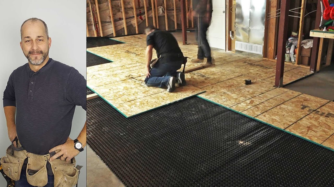 DIY How to Install a Basement Subfloor & DIY How to Install a Basement Subfloor - YouTube