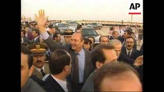 Syria - Visit French President Jacques Chirac